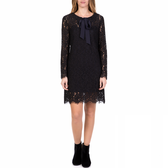 SILVIAN HEACH - Γυναικείο μίνι φόρεμα BURIASSOTΟ SILVIAN HEACH μαύρο από δαντέλα