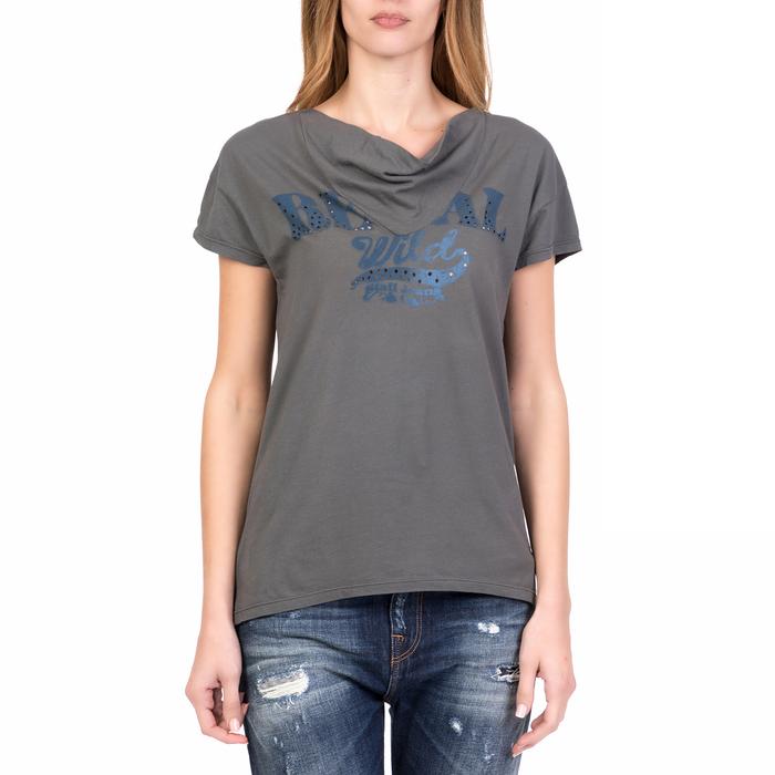 STAFF - Γυναικεία κοντομάνικη μπλούζα WENDY STAFF γκρι