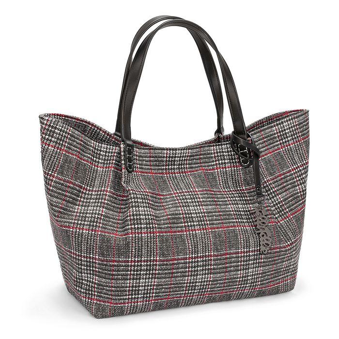 FOLLI FOLLIE - Γυναικεία μεγάλη τσάντα χειρός FOLLI FOLLIE ασπρόμαυρη