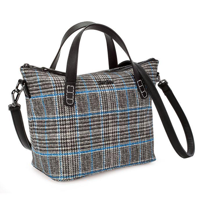 FOLLI FOLLIE - Γυναικεία μικρή τσάντα χειρός FOLLI FOLLIE ασπρόμαυρη