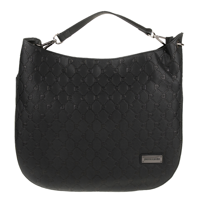 PIERRE CARDIN - Γυναικεία τσάντα χιαστί PIERRE CARDIN μαύρη