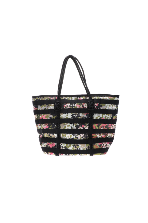 NIKE - Γυναικεία αθλητική τσάντα ώμου NIKE AF-1 TOTE - FA19 AOP μαύρη ροζ
