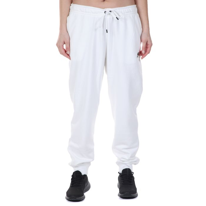 NIKE - Γυναικείο παντελόνι φόρμας NIKE NSW ESSNTL PANT REG FLC MR λευκό