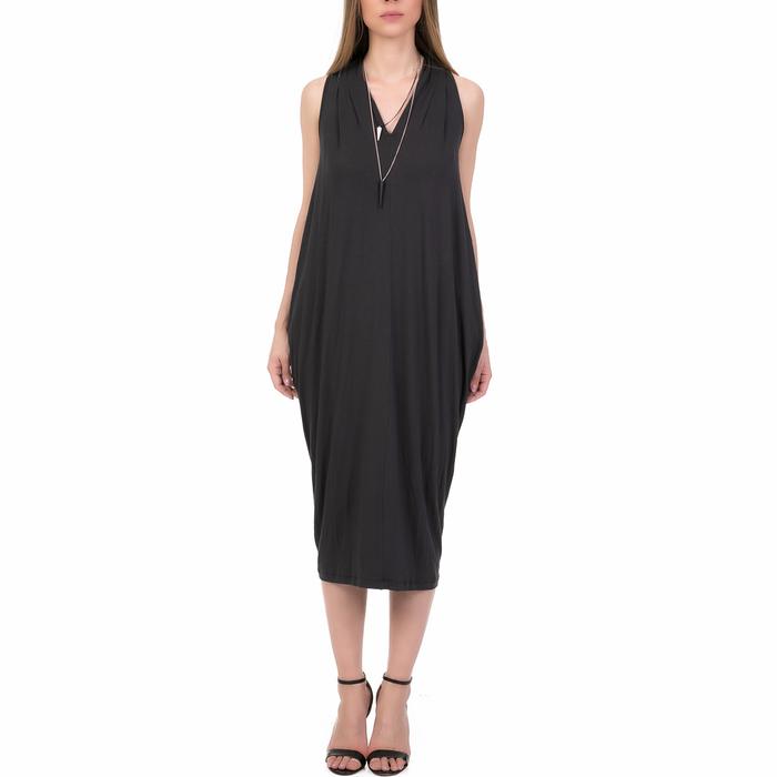 'ALE - Γυναικείο μίντι φόρεμα 'ALE ανθρακί