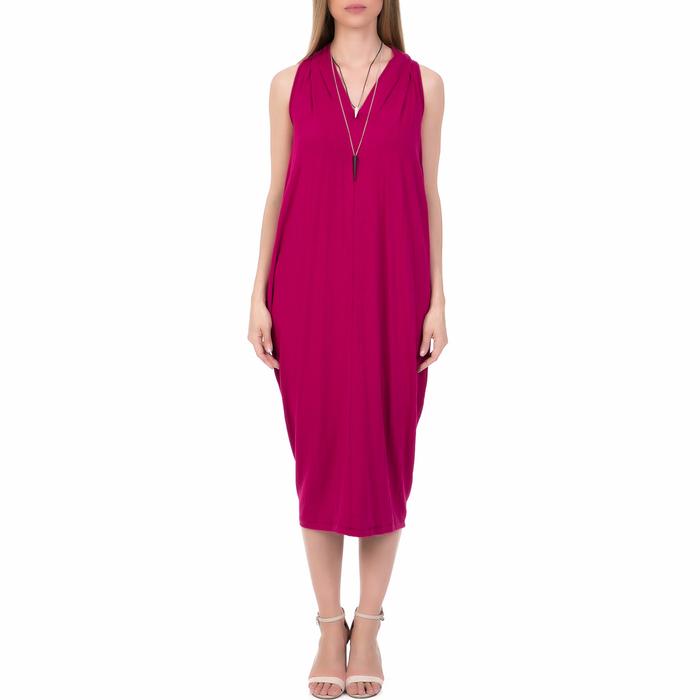 'ALE - Γυναικείο μίντι φόρεμα 'ALE φούξια