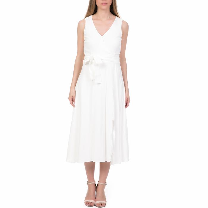 'ALE - Γυναικείο μίντι φόρεμα 'ALE λευκό