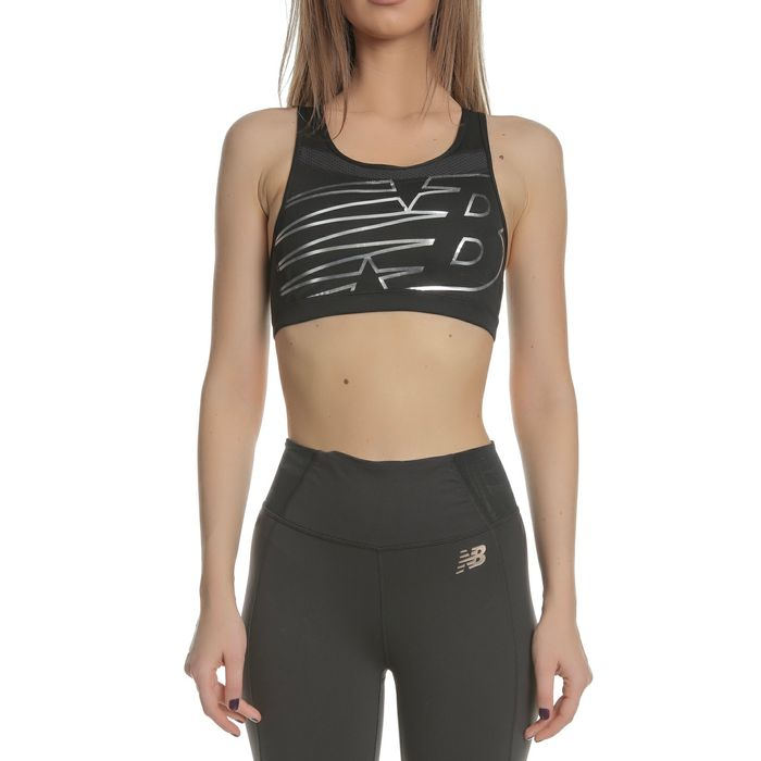 NEW BALANCE - Γυναικείο αθλητικό μπουστάκι NEW BALANCE μαύρο