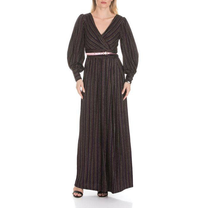 NENETTE - Γυναικείο μάξι φόρεμα NENETTE ALCIDE ριγέ