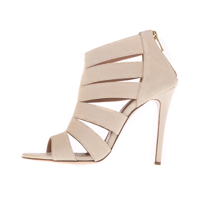 CHANIOTAKIS - Γυναικεία peep toe ψηλοτάκουνα πέδιλα CHANIOTAKIS JOXI λευκά
