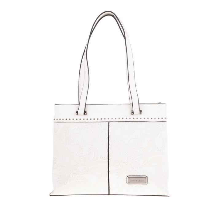 PIERRE CARDIN - Γυναικεία τσάντα ώμου με σχέιδο PIERRE CARDIN λευκή