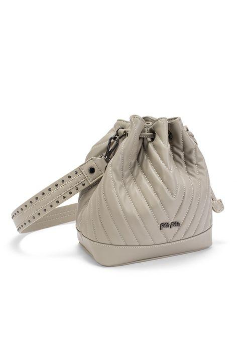 FOLLI FOLLIE - Γυναικεία τσάντα πουγκί FOLLI FOLLIE STYLE ROW γκρι