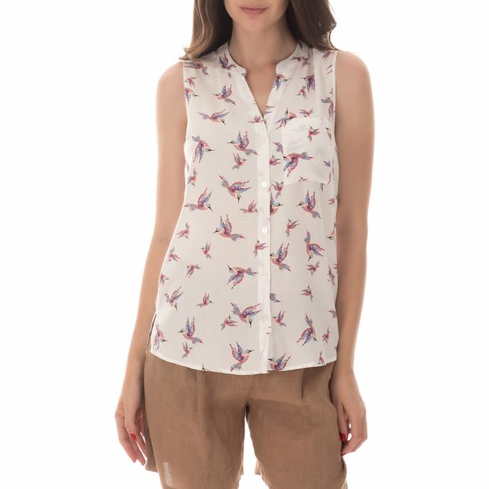 FUNKY BUDDHA - Γυναικείο πουκάμισο FUNKY BUDDHA λευκό