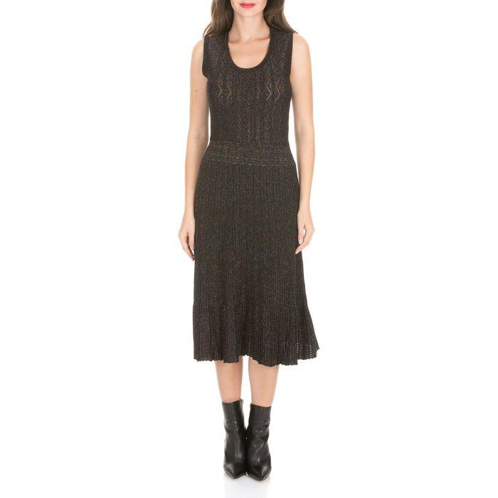 MOLLY BRACKEN - Γυναικείο midi φόρεμα MOLLY BRACKEN μαύρο