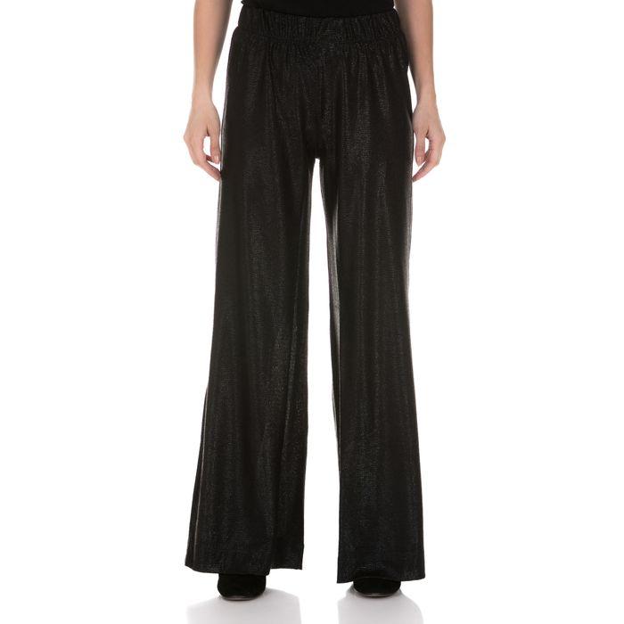 LA DOLLS - Γυναικεία παντελόνα LA DOLLS GLOW FOR IT μαύρη