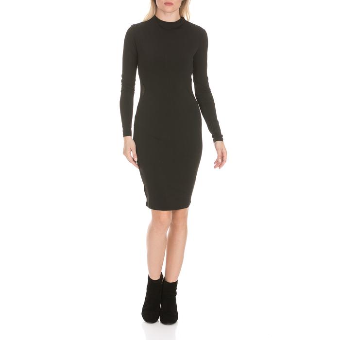 DEVERGO JEANS - Γυναικείο midi φόρεμα DEVERGO JEANS μαύρο