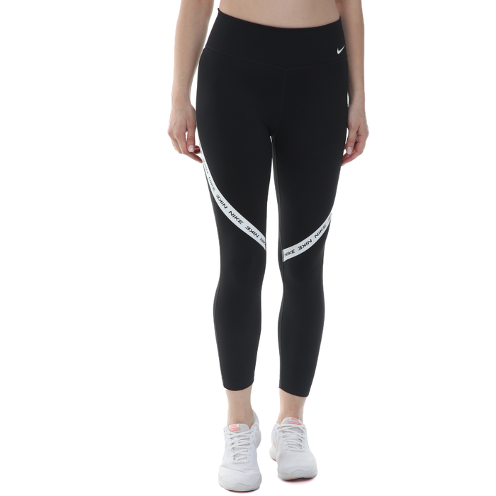 NIKE - Γυναικείο αθλητικό κολάν NIKE ONE TGHT CROP NVLTY μαύρο λευκό