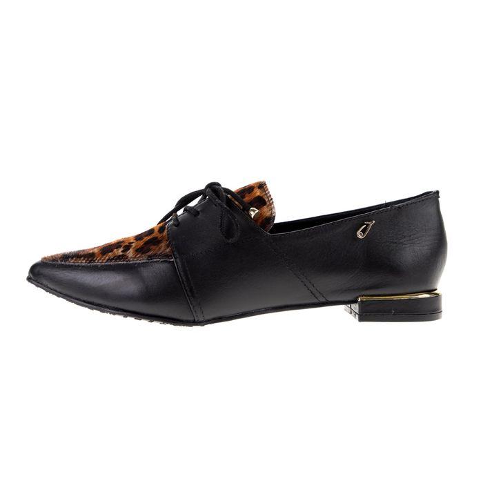 JOY'S - Γυναικεία loafers JOY'S μαύρα λεοπάρ