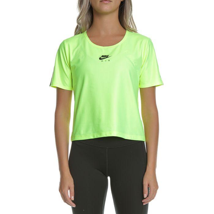 NIKE - Γυναικείο αθλητικό t-shirt ΝΙΚΕ AIR TOP λαχανί