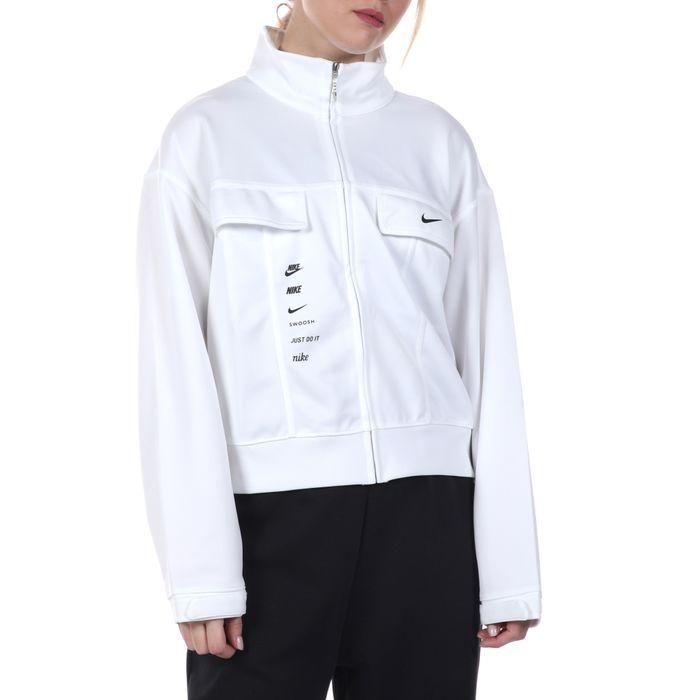 NIKE - Γυναικείο μπουφάν NIKE NSW SWSH JKT PK λευκό