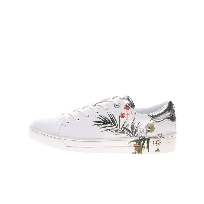 TED BAKER - Γυναικεία sneakers TED BAKER PENIL HIGHLAND EXOTIC DETAIL T λευκά