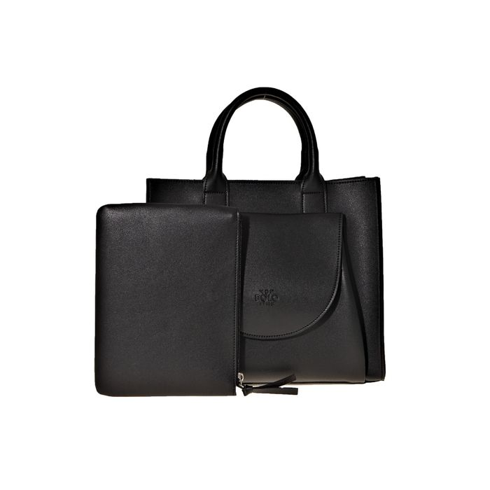 VQF POLO LINE - Γυναικεία τσάντα χειρός VQF POLO LINE μαύρη