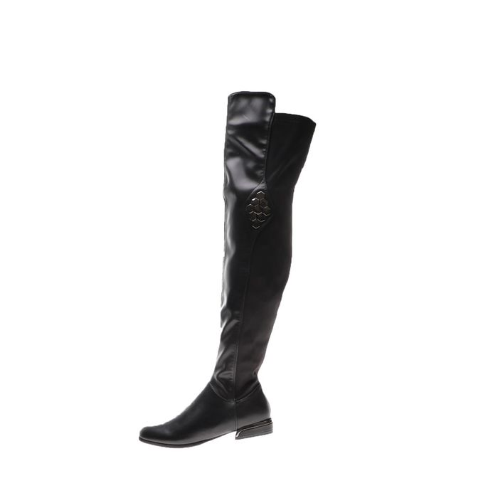 LOVEBERRY - Γυναικείες μπότες over the knee LOVEBERRY μαύρες