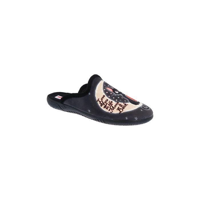 ADAM'S SHOES - Γυναικείες παντόφλες ADAM'S SHOES μαύρες