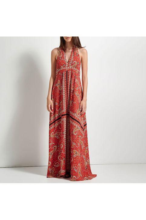 ATTRATTIVO - Γυναικείο maxi φόρεμα ATTRATTIVO κόκκινο