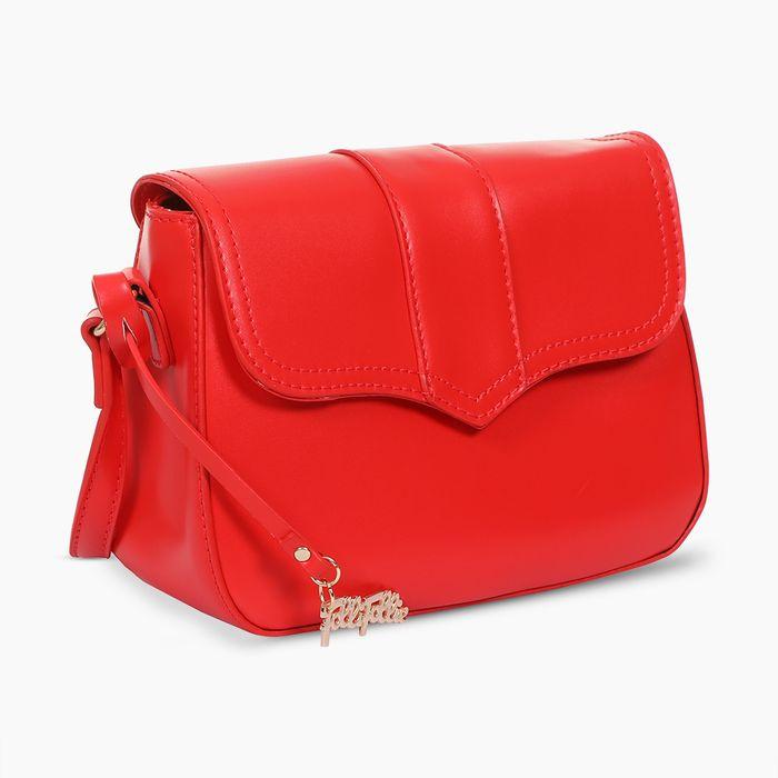 FOLLI FOLLIE - Γυναικεία τσάντα ώμου χιαστί FOLLI FOLLIE κόκκινη