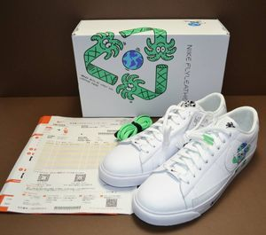 77YA☆NIKE BLAZER LOW FLYLEATHER QS EARTH DAY COLLECTION ナイキ ブレーザー フライレ