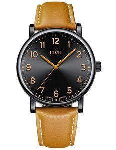 腕時計メンズ アナログクオーツ防水ウオッチレザー 日付カレンダー シンプルデザイン wat