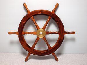 木製舵輪 舵 約77㎝