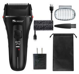 髭剃り 電気シェーバー メンズ 電動 男性用 往復式 乾湿両用 トリマー 防水 充電式 水洗