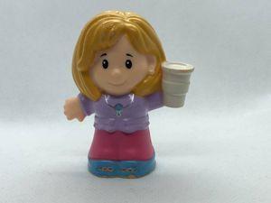 リトルピープル/LittlePeople【コップを持った女の子】2015年MATTEL社製 カナダ買い付け