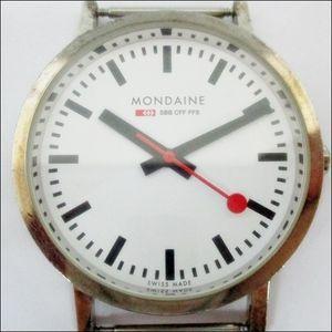 17 41-202030-05 【本体のみ】 MONDAINE モンディーン スイス SBB CFF FFS クォーツ ホワ