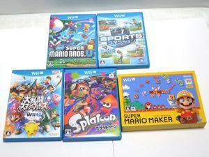 047A WiiUソフト スーパーマリオメーカー、スポーツコネクション など 5本まとめて 【ジ