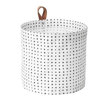 ☆ IKEA イケア ☆ PLUMSA プルムサ 収納バスケット, ホワイト, ブラック小物 雑貨 収納