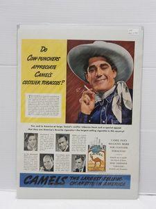 1938年アメリカの雑誌広告【CAMEL/キャメル】たばこ LIFE誌