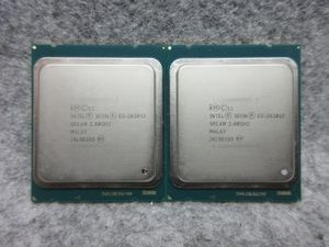 6Core Xeon E5-2630V2 2.6G/15M/7.20 GTs/SR1AM/同ロット 2個セット