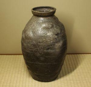銘品 新羅土器壷