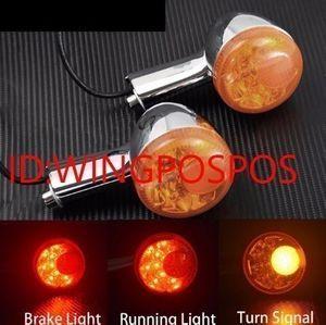 【送料無料】ハーレー アンバー リア LED ウィンカー ブレーキ テールライト機能付 スポ