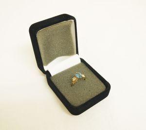 H807●14K刻印 指輪 9号 ゴールド リング アクセサリー 14金 天然石 宝石 2.1g