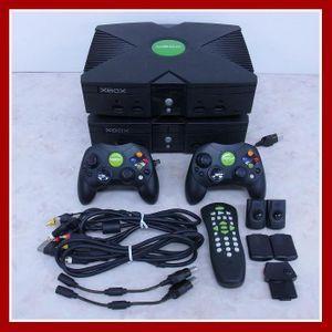 XBOX 本体 + 周辺機器 コントローラ/ケーブル/リモコン等 まとめて大量セット Microsoft