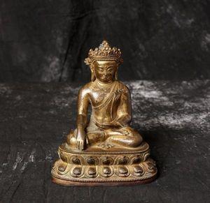 【齋】唐物 古仏像 清時代 銅製塗金 地藏王像 地藏王仏像 仏教美術 精細手工 置物擺件 蔵