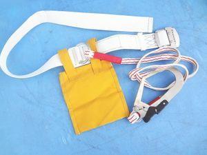 Kすう0064 平綱 A種安全帯 一本吊専用 綱王 ポリマーギヤ 紐約1400㎜ TS-50 約1500㎜ 安
