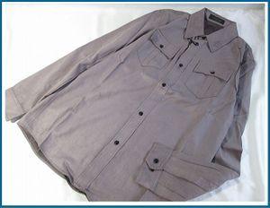 Zふ5785 新品タグ付 NO CROSSING/ノークロッシング ワークシャツ ポリエステル100% 長袖