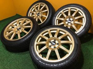 No.630 BBS RV717 スバル 17インチ 7.5J 5穴 PCD100 ラジアルタイヤ 215/45ZR17 FORGED 4