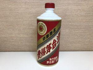 B177-pA464 古酒 中国 マオタイ酒 貴州茅台酒 麦五星ラベル 総重量約890g 開栓済み 現状