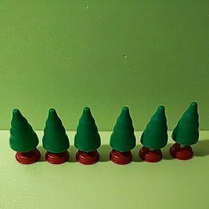 プラレール【同梱OK】立ち木 6本 樹木 赤/緑