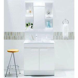 【大特価・代引OK】 TOTO 洗面化粧台 Vシリーズ 2枚扉・一面鏡 幅750mm×高さ1800mm